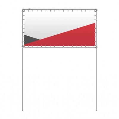 Konstrukcja wolnostojąca 100 cm x 50 cm – 150 cm powyżej poziomu ziemi