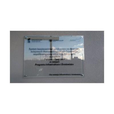Tablica Unijna Plexi 5 mm bezbarwna z nadrukiem 120x80 cm